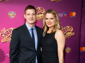 Broadway's Amy Spanger and her husband Brian Shepard attend the Broadway opening of Charlie & the Chocolate Factory.