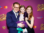 Charlie & the Chocolate Factory's Jared Bradshaw celebrates his Broadway opening with his wife Lindsay and their adorable daughter.