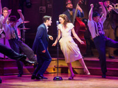 Corey Cott, Laura Osnes and the cast of Bandstand.