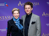 Theater couple Marin Mazzie and Jason Danieley step out for the Broadway opening of Anastasia.