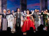 All together now! Mary Beth Peil, Derek Klena, Christy Altomare, Ramin Karimloo, Caroline O'Connor and Anastasia's company come together.