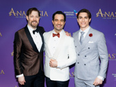 Looking sharp, gents! Anastasia's John Bolton, Ramin Karimloo and Derek Klena snap a photo.