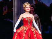 Broadway royalty! Anastasia star Christy Altomare takes her opening night curtain call.