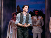 Anastasia's leading man Derek Klena takes his Broadway opening night bow.