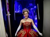 Heart don't fail us now! Christy Altomare is all smiles as she steps offstage after the opening night curtain call.
