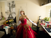 Now that she's in her dressing room, Altomare takes it all in.