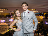 Found her leading man at the party! Altomare and Derek Klena snap a pic on their big night.