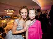 What would the opening night party be without a shot of Anastasia and her mini-me? Altomare and Nicole Scimeca flash smiles.