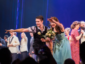 Bandstand's Corey Cott and Laura Osnes take their curtain call.