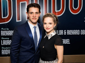 Casey Cott and Newsies alum Stephanie Styles attend the opening night of Bandstand to cheer on Corey Cott.