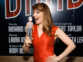 Look familiar? Wicked's Kara Lindsay brought her Corey Cott doll as an opening night gift for her Newsies pal.
