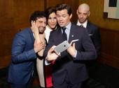 Tight-knit family photo! Falsettos nominees Brandon Uranowitz, Stephanie J. Block, Andrew Rannells and Christian Borle snap a selfie.