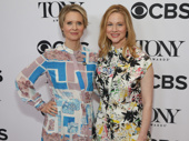 The Little Foxes Tony nominees Cynthia Nixon and Laura Linney exude glam.
