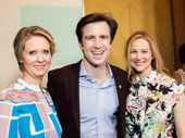 Cynthia Nixon, Gavin Creel and Laura Linney are all smiles for their Tony nominations.