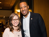 Sally Field and Corey Hawkins snap a pic.