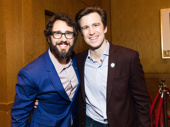 Velvet ropes in the back—velvet voices in the front! The Great Comet Tony nominee Josh Groban and Hello, Dolly! Tony nominee Gavin Creel snap a pic. Can they serenade us? Please?