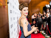 Come From Away Tony nominee Jenn Colella is poised to meet the press.