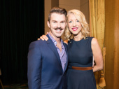 Tony-nominated choreographers Denis Jones and Kelly Devine stop in place for a photo.