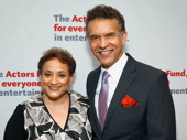 The evening's honoree Jo Ann Jenkins with Tony winner Brian Stokes Mitchell, who is the Chairman of the Board of Trustees of The Actors Fund.