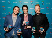 Dear Evan Hansen's music makers Benj Pasek and Justin Paul and scribe Steven Levinson accept the awards for Favorite New Musical and Favorite New Song.