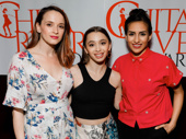 Charlie and the Chocolate Factory's Emily Padgett and Emma Pfaeffle celebrate their nominations with Yesenia Ayala. Padgett and Ayala are nominated for their dancing in the off-Broadway production of Sweet Charity; Pfaeffle is nominated for her ballet skills in Charlie.