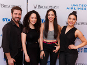On Your Feet's Omar Lopez-Cepero, Genny Lis Padilla, Ana Villafañe and Linedy Genao get ready to go on.