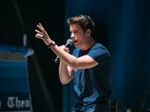 """Corey Cott rocks the mic for the Bandstand number """"Donny Novitski."""""""