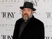 Jitney's Tony-nominated set designer David Gallo takes a photo.