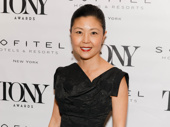 Anastasia Tony-nominated costume designer Linda Cho snaps a pic.