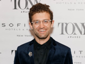 The Great Comet's Tony-nominated choreographer Sam Pinkleton works the red carpet.