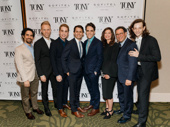 Dear Evan Hansen's Tony-nominated orchestrator Alex Lacamoire, songwriter Justin Paul, Tony nominee Ben Platt, songwriter Benj Pasek, scribe Steven Levenson, producer Stacey Mindich, director Michael Greif and Tony nominee Mike Faist get together. Congrats to all of this year's Tony nominees and honorees!