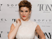 Come From Away Tony nominee Jenn Colella works the red carpet.