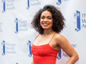 Barrett Doss gets glam for the Theatre World Awards; she received one for her performance in Groundhog Day.