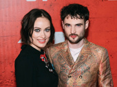 1984 stars Olivia Wilde and Tom Sturridge hit the red carpet after their opening-night performance.