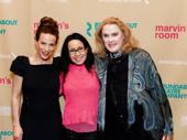 Headliners Lili Taylor, Janeane Garofalo and Celia Weston beam on opening night of Marvin's Room.