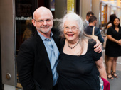 Director Michael Wilson and actress Lois Smith take in Marvin's Room at the American Airlines Theatre.