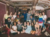 The gang's all here! The Great Comet cast snaps a big, beautiful group shot to celebrate Oak's first bow in the musical.