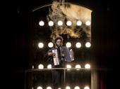 Okieriete Onaodowan as Pierre in The Great Comet.