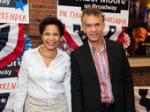 Broadway couple Allyson Tucker and Brian Stokes Mitchell attend the opening night of The Terms of My Surrender.