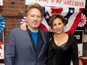 Stage and screen star Kathy Najimy and Dan Finnerty snap a pic.