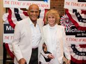 Harry Belafonte and Pamela Frank step out.