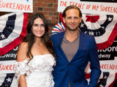 The Parisian Woman-bound Josh Lucas and Jessica Ciencin Henriquez attend the Broadway opening of The Terms of My Surrender.