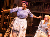 Bryonha Marie Parham and Kaley Ann Voorhees in Prince of Broadway