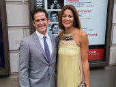 Andy and Elly Blankenbuehler are all smiles for opening night of Prince of Broadway.