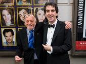 Harold Prince snaps a pic with Jason Robert Brown, who contributed songs and orchestrations to Prince of Broadway.