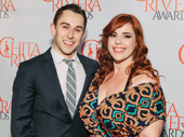 Theater couple Cody Williams and Alysha Umphress celebrate Williams' nod for dancing in the off-Broadway production of Sweet Charity.