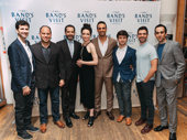 The Band's Visit's John Cariani, Andrew Polk, Tony Shalhoub, Katrina Lenk, Ari'el Stachel, Etai Benson, Adam Kantor and George Abud grab a group shot.