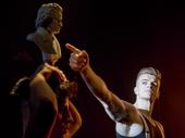 Aleksander Varadian and Jonno Davies in A Clockwork Orange