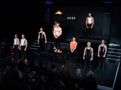 Jonno Davies and the company of A Clockwork Orange take their opening night bow.