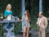 Sherie Rene Scott as Atalanta, Aimee Carerro as Patty and Jason Alexander as Barry in The Portuguese Kid.